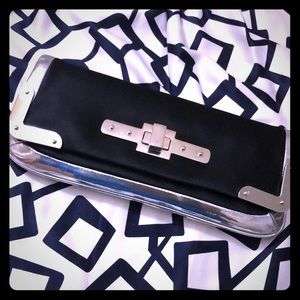 Black and silver detail and Taylor clutch purse